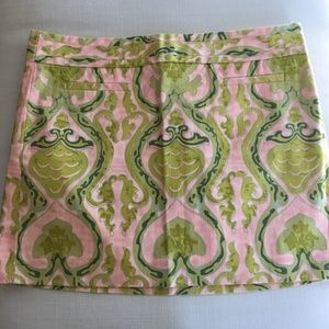 NWOT J. Crew Green & Pink Patterned Skirt Size 12